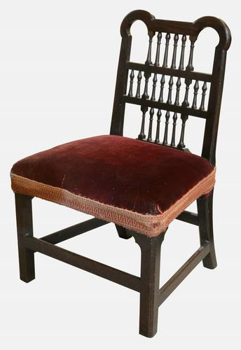 Chippendale Period Spindle Back Chair c.1750 (1 of 1)
