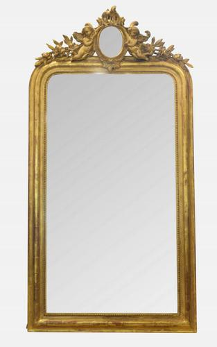 Louis Philippe Style Gilt Mirror c.1880 (1 of 1)