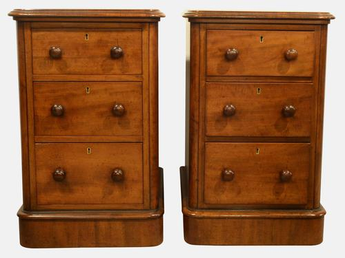 Pair of Victorian Mahogany Bedside Chests c.1870 (1 of 1)