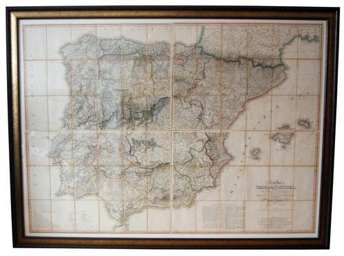 Regency Period Map of Spain & Portugal (1 of 1)