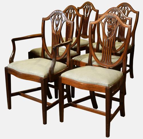 Set of 6 Hepplewhite Style Chairs c.1890 (1 of 1)