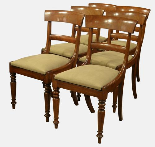 Set of 6 Mahogany Dining Chairs c.1840 (1 of 1)