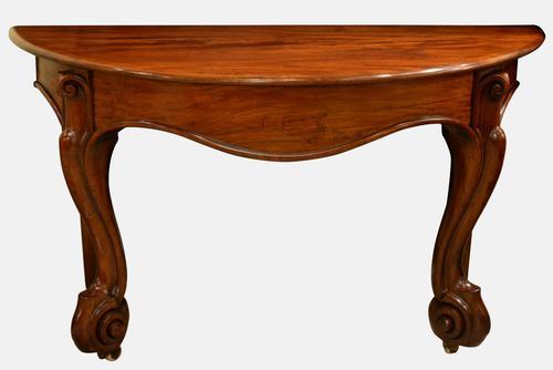 Victorian Demi Lune Console Table (1 of 1)