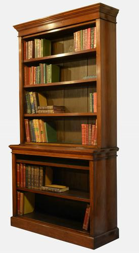 Victorian Walnut 2 Section Bookcase (1 of 1)
