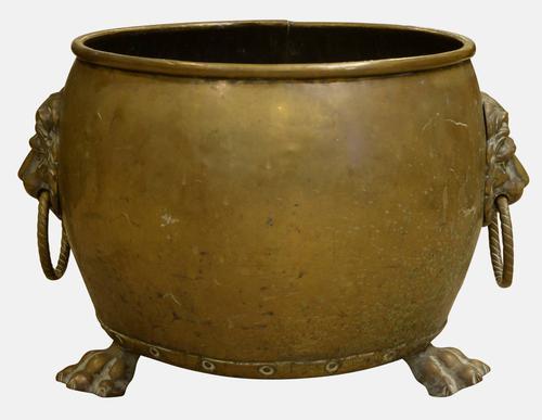 19th Century Brass Log Bucket (1 of 1)