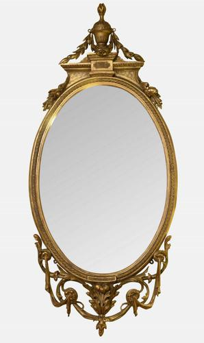 19th Century Carved Giltwood Mirror (1 of 1)