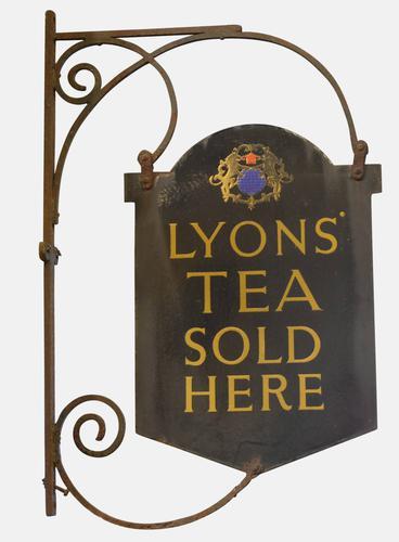 Enamel 'Lyons Tea' Shop Sign c.1900 (1 of 1)