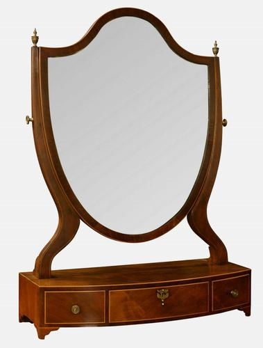 George III Mahogany Dressing Table Mirror (1 of 1)