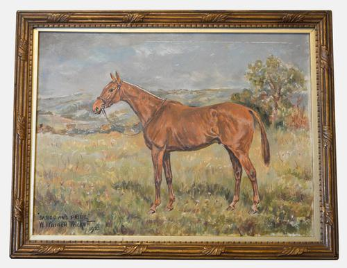 Oil on Canvas Equestrian Painting 'Sandowns Pride' (1 of 1)