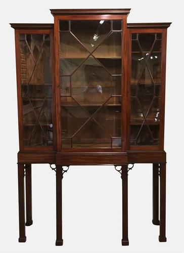 Chippendale Breakfront Cabinet on Stand c.1880 (1 of 1)