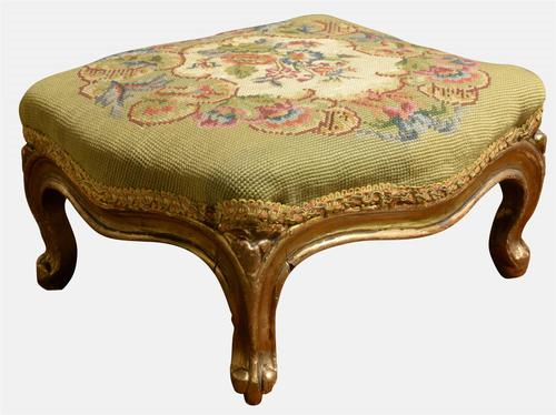 Victorian Gilded Stool (1 of 1)