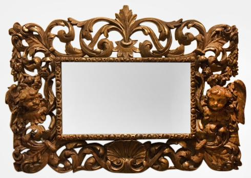 19th Century Baroque Style Mirror (1 of 1)