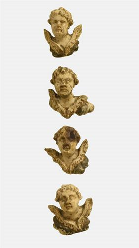 4 Carved Baroque Heads (1 of 1)