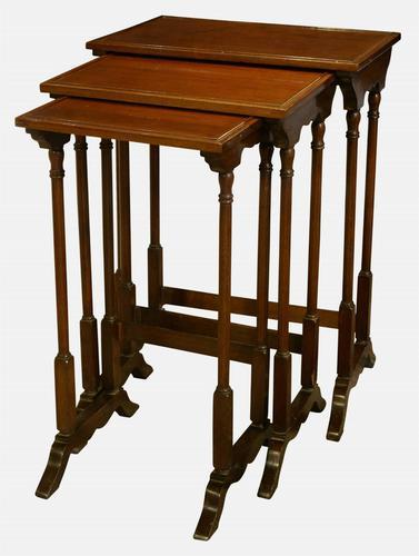 Edwardian Mahogany Nest of Tables (1 of 1)