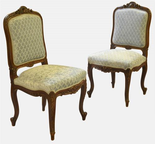 Pair of French Occasional Side Chairs (1 of 1)