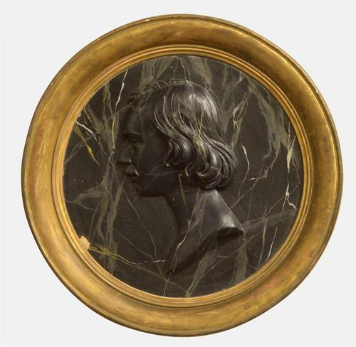 19th Century Marble Effect Mounted Portrait (1 of 1)