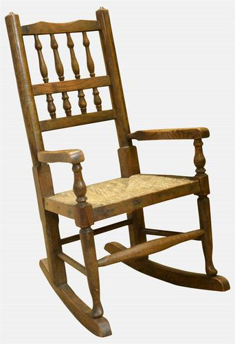 Beech & Ash Childs Rocking Chair c.1920 (1 of 1)