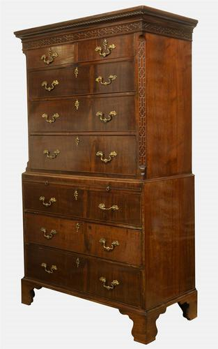George III Mahogany Chest on Chest c1780 (1 of 1)