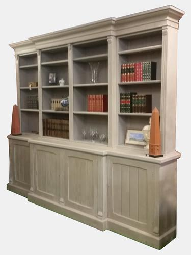 Large Painted Breakfront Bookcase c.1880 (1 of 1)