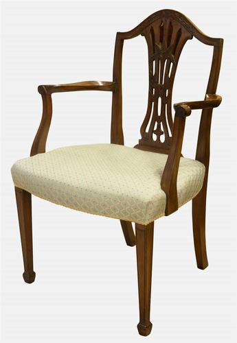 Mahogany Hepplewhite Period Carver Chair c.1780 (1 of 1)