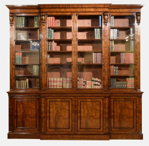 Quality Mahogany William IV Period Breakfront Bookcase (1 of 1)