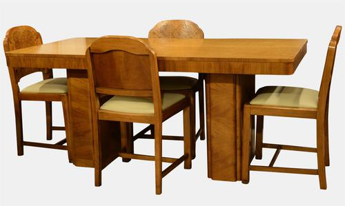 Art Deco Table & Chairs c.1930 (1 of 1)