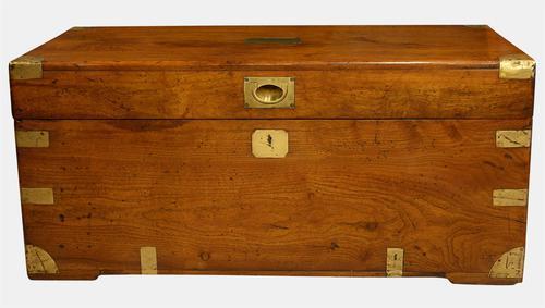 Brass Bound Camphor Wood Trunk c.1860 (1 of 1)
