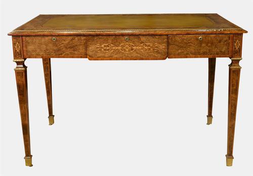 English Burr Walnut Writing Table c.1850 (1 of 7)