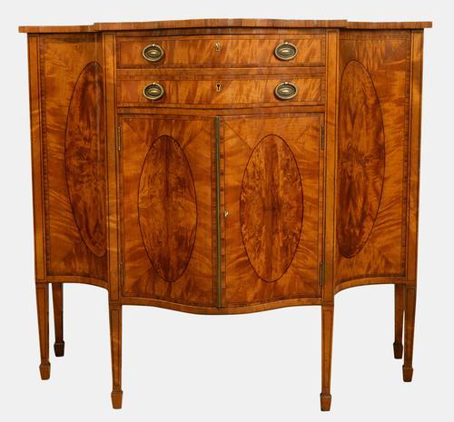 Sheraton Style Satinwood Side Cabinet c.1900 (1 of 1)