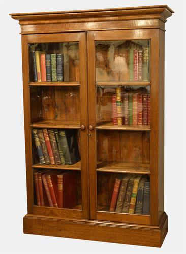 Victorian Glazed Oak Bookcase c.1870 (1 of 1)