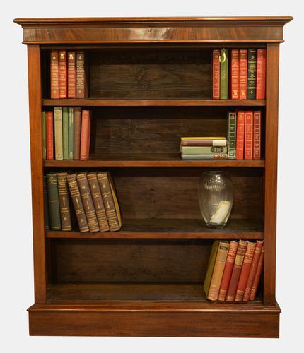 Victorian Mahogany Open Bookcase (1 of 1)