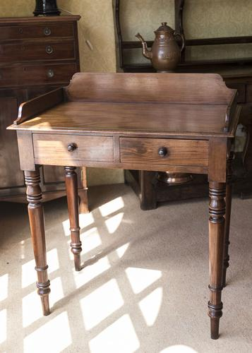 Mahogany 2 Drawer Side Table c.1850 (1 of 5)