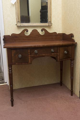 Elegant George III Bow Front Side Table with 3 Drawers (1 of 3)