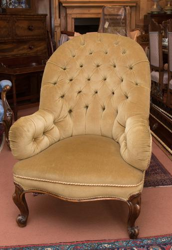 Victorian Button Back Chair (1 of 1)