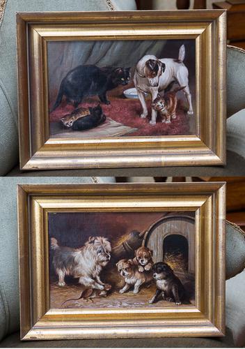 Pair of Oil Paintings C.1890 (1 of 1)