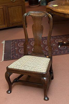 Queen Anne Period Oak Nursing Chair (1 of 1)