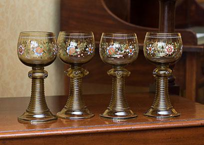 4 Glass Goblets (1 of 1)