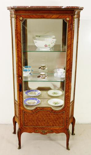 French Kingwood Parquetry Vitrine c.1880 (1 of 17)