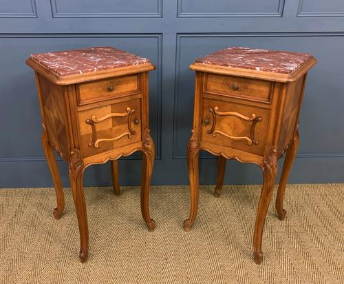 Pair of French Walnut Bedside Cupboards (1 of 12)