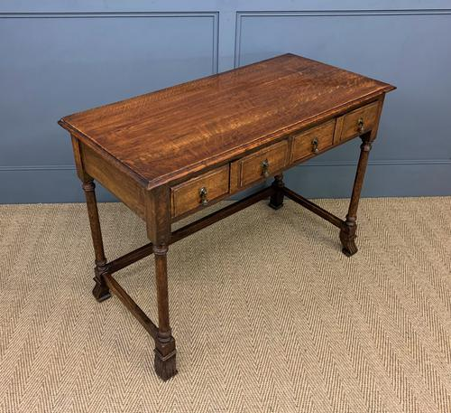 Two Drawer Oak Side Table c.1910 (1 of 10)