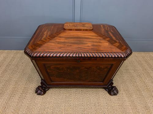 Large Regency Flame Mahogany Wine Cooler (1 of 13)