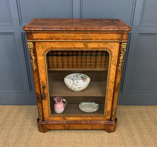 Victorian Inlaid Burr Walnut Pier Cabinet (1 of 16)