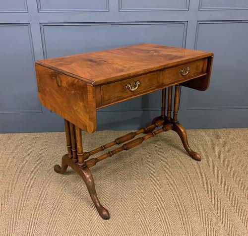 Burr Walnut Sofa Table c.1900 (1 of 15)