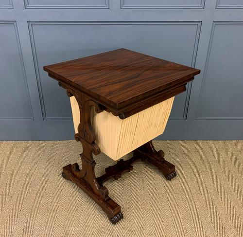 William IV Rosewood Work Table (1 of 15)