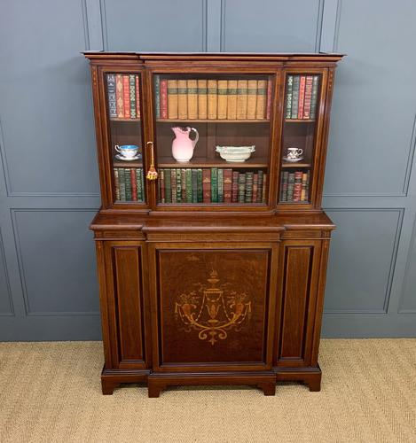Jas Shoolbred Inlaid Mahogany Bookcase / Cabinet (1 of 15)