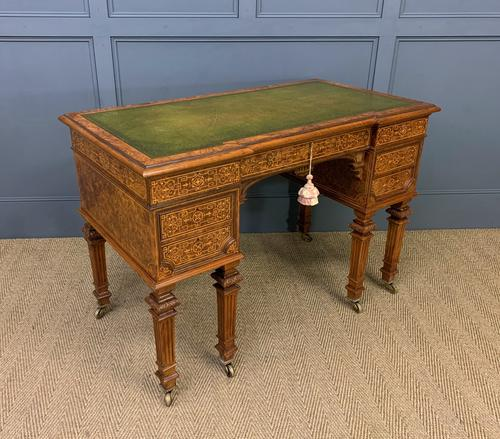 Johnstone & Jeanes Inlaid Burr Walnut Writing Table (1 of 19)