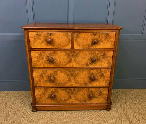 Victorian Burr Walnut Chest of Drawers (1 of 11)