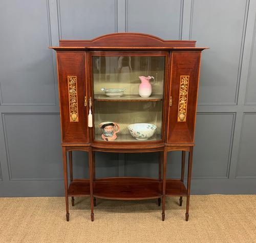 Inlaid Mahogany Arts & Crafts Display Cabinet (1 of 12)