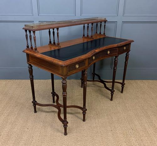 Inlaid Rosewood Writing Desk by Collinson and Lock (1 of 24)