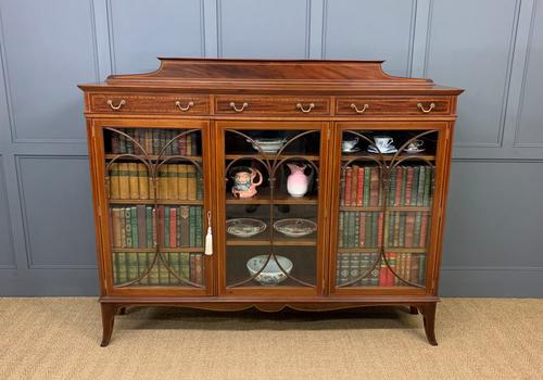 Inlaid Mahogany Bookcase by Maple & Co (1 of 21)